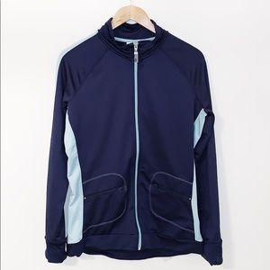 ALO Navy Zipper Jacket With Pockets